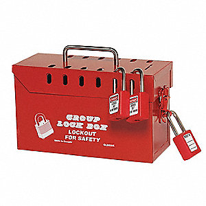Honeywell Red Steel Group Lockout Box Max Number Of
