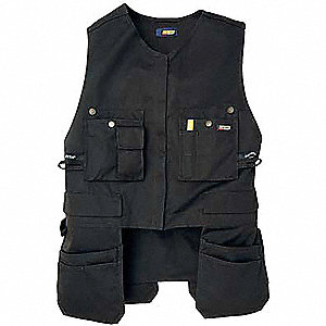 Vest,Black,Poly/Cotton,XXXL