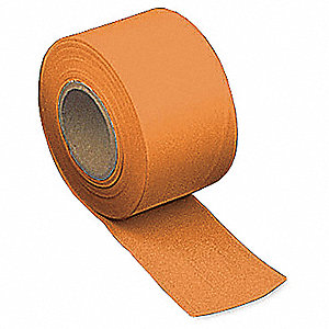 Taffeta Flagging Tape,Orange,300ft x 2In