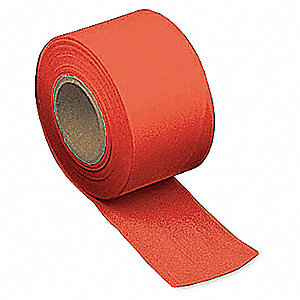 Taffeta Flagging Tape,Red,300 ft x 2 In