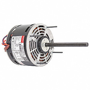 1/6 HP Direct Drive Blower Motor, Permanent Split Capacitor, 1075 Nameplate RPM, 115 Voltage