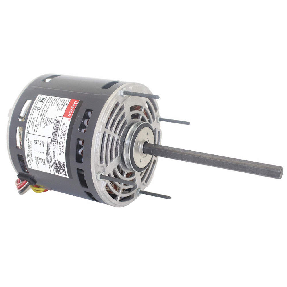 DAYTON 1/2 HP Direct Drive Blower Motor, Permanent Split Capacitor ...