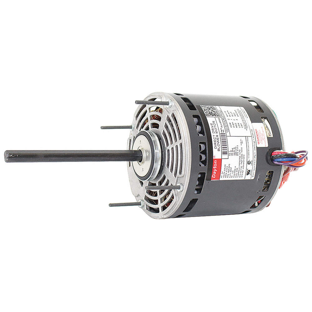 DAYTON 3/4 HP Direct Drive Blower Motor, Permanent Split Capacitor ...