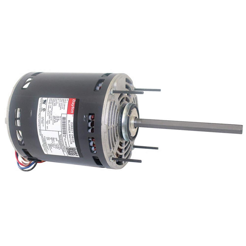 1 HP Direct Drive Blower Motor, Permanent Split Capacitor, 1075 Nameplate Dayton Direct Drive Blower Motor Wiring Diagram on