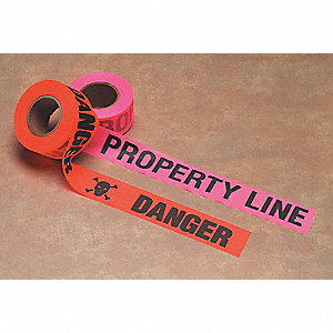 Flagging Tape,Property Line,Pink Glo