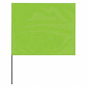 "Lime Glo Marking Flag, 2-1/2"" Flag Height, Solid Pattern, Blank"