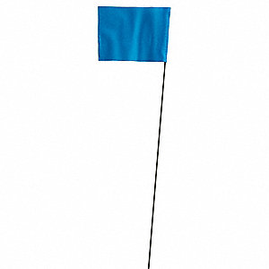 Marking Flag,Blue,Blank,Vinyl,PK100