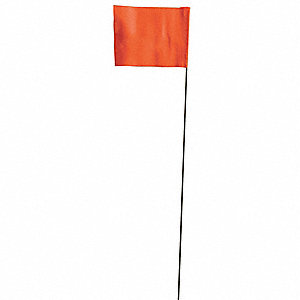 Marking Flag,Orange,Blank,Vinyl,PK100