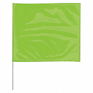 "Marking Flag,18"", Glo Lime,PK100"