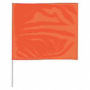 "Marking Flag,18"", Glo Orange,PK100"