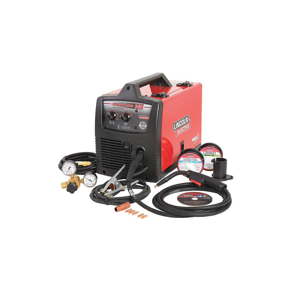 mig welder, easy mig 140 series, input voltage 120vac, flux core, migFree Shipping Lincoln Electric Easy Mig 140 Fluxcore Mig Welder #11
