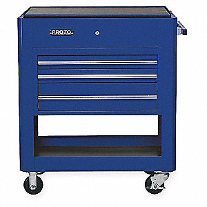 "Rolling Cabinet,39-1/2""Wx23""Dx46""H,Blue"