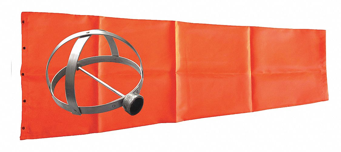Windsock Kit with Mounting Frame Orange 96L x 18 Dia