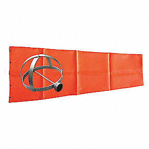 "Windsock Kit with Mounting Frame, 96""L x 18"" Dia., Orange"