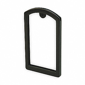 Label Pocket Frame,Pocket Recess,Black