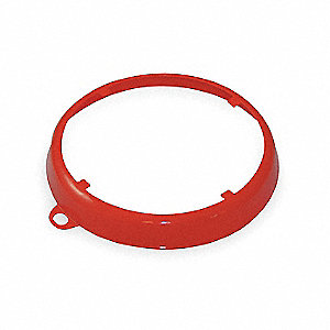 Color Coded Drum Ring,  HDPE,  Red