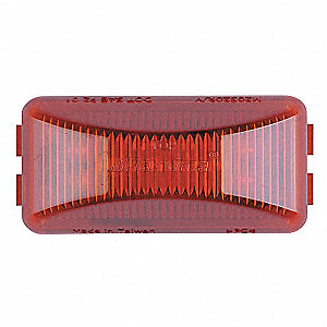Clearance Light,LED,Red,Surf,Rect,2-1/2L