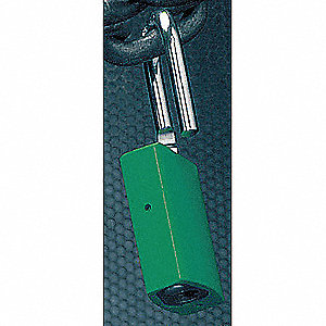 Green Lockout Padlock, Alike Key Type, Aluminum Body Material, 1 EA