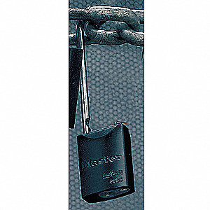 "Lockout Padlock,KA,Black,1-15/16""H"