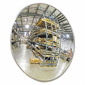 OUTDOOR CONVEX MIRROR,36 DIA,ACRYLI