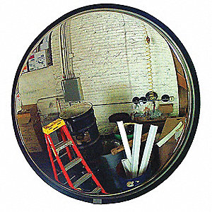 Circular Indoor/Outdoor Convex Mirror, 160° Viewing Angle, 30 ft. Approx. Viewing Distance