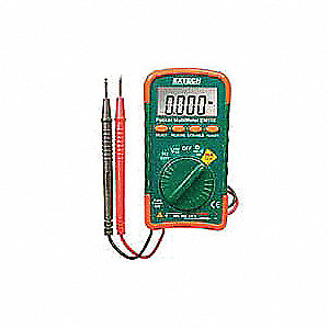 EXTECH (R) DM110 Pocket - Basic Features Digital Multimeter, No Temp Temp. Range