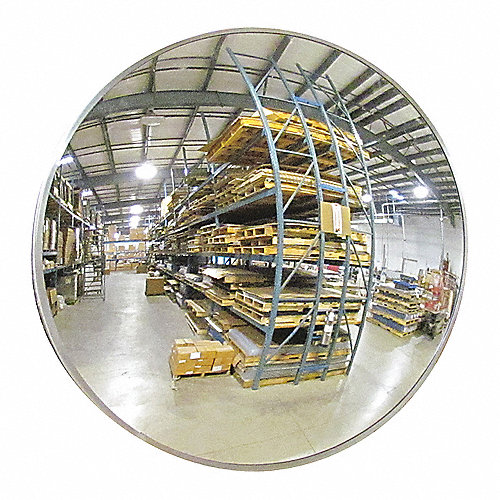 Grainger Approved Espejo Convexo Para Interiores Circular