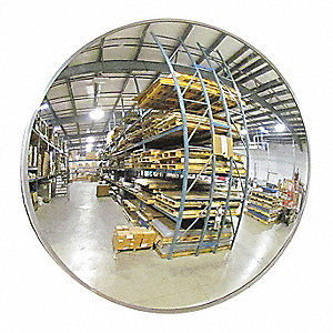 "30""-dia. Circular Indoor Convex Mirror, Viewing Distance: 35 ft."