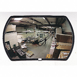 Outdoor Convex Mirror,12x18,Rectangular