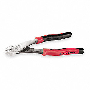 "Oval High Leverage Diagonal Cutters,8-1/8"" Overall Length,1-3/16"" Jaw Width,13/16"" Jaw Length,Uninsu"
