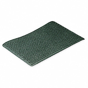 Carpeted Entrance Mat,Forest Green,4x6ft