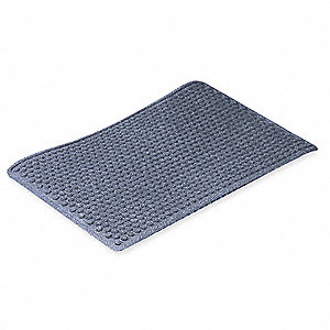 "Indoor Entrance Mat, 6 ft. L, 4 ft. W, 3/8"" Thick, Rectangle, Blue"