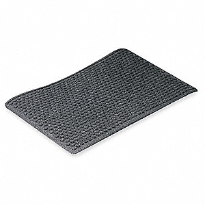 Charcoal Tufted Yarn, Entrance Mat, 4 ft. Width, 6 ft. Length