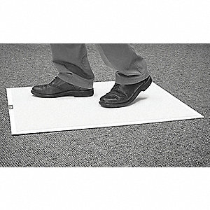 "White Disposable Tacky Mat with Frame, 25-1/2"" x 31-1/2"", 1 EA"