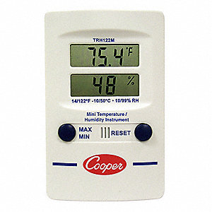 Indoor Digital Hygrometer,14 to 122 F
