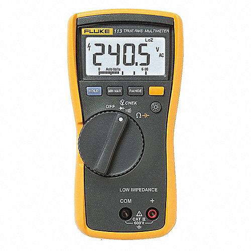 Multímetro Digital, 6000 Conteos, Precisión ±2% + 3 Dígitos, Voltios Máx. CA 600