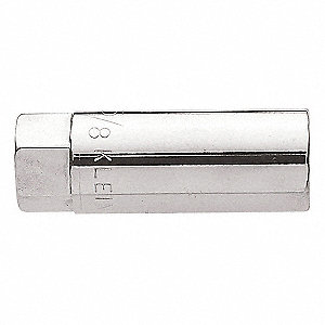 "2-1/2"" Steel Spark Plug Socket with 1/2"" Drive Size and Chrome Finish"