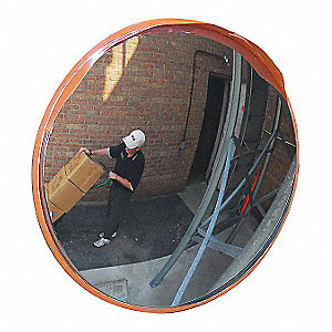 Indoor/Outdoor Convex Mirror,26 In.D