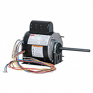 1/4 HP Condenser Fan Motor,Permanent Split Capacitor,1075 Nameplate RPM,208-230 Voltage,Frame 48YZ