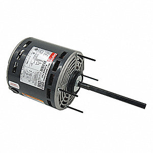 1/2 HP Direct Drive Blower Motor, Permanent Split Capacitor, 1075 Nameplate RPM, 277 Voltage