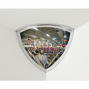 Quarter Dome Mirror,18In.,Acrylic