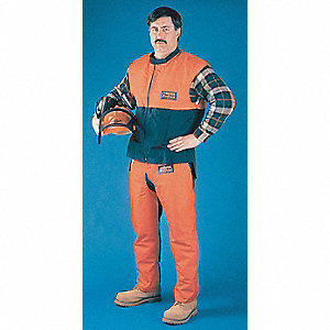 Chain Saw Chaps,Orange,28 In. L