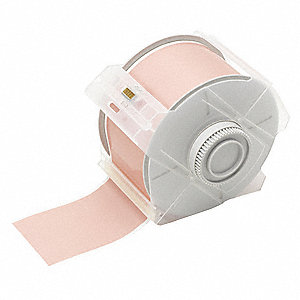 "Indoor/Outdoor Polyester Label Tape Cartridge, Pink, 2-1/4""W x 100 ft."