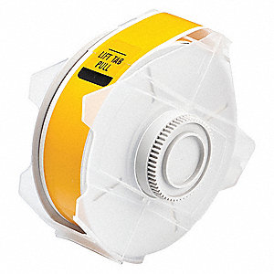 "Indoor/Outdoor Polyester Label Tape Cartridge, Yellow, 1-1/8""W x 100 ft."