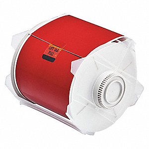 "Indoor/Outdoor Polyester Label Tape Cartridge, Red, 4""W x 100 ft."