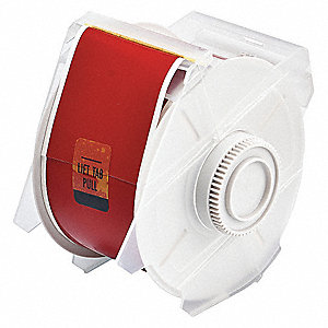 "Indoor/Outdoor Polyester Label Tape Cartridge, Red, 2-1/4""W x 100 ft."