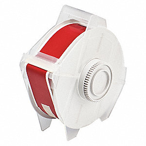 "Indoor/Outdoor Polyester Label Tape Cartridge, Red, 1-1/8""W x 100 ft."