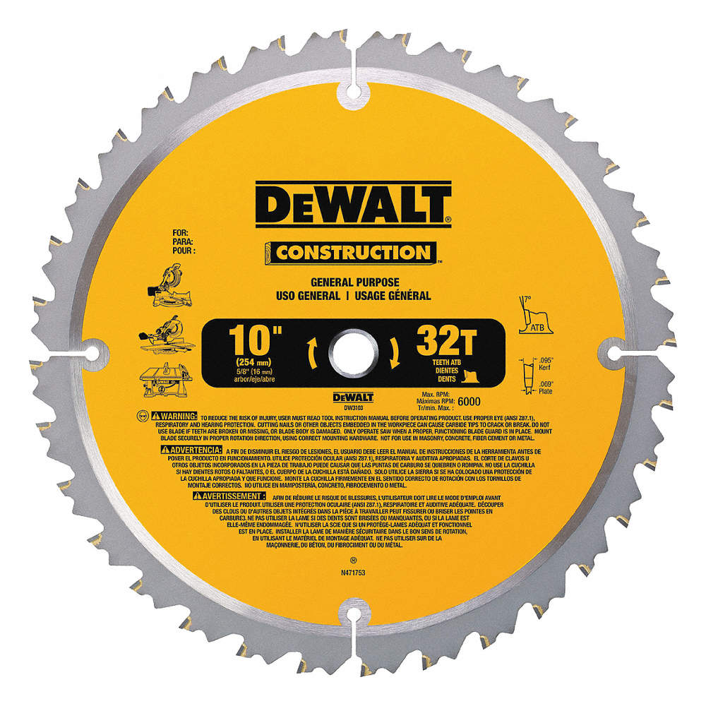 Dewalt 10 carbide combination circular saw blade number of teeth zoom outreset put photo at full zoom then double click 10 carbide combination circular saw blade greentooth Image collections