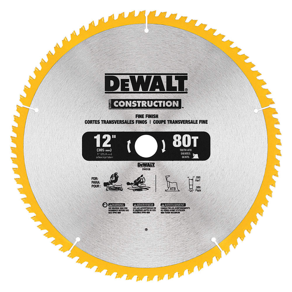 Dewalt 12 carbide finishing circular saw blade number of teeth 80 zoom outreset put photo at full zoom then double click greentooth Gallery