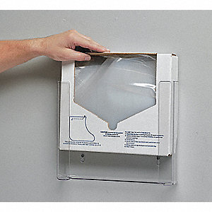 "12"" x 2-1/4"" x 10-1/4"" Plastic Overboot Dispenser, Clear"